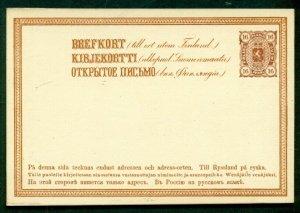 FINLAND Norma PK12 II, 16pen postal card, unused, VF, Norma $58.00