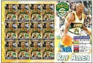 Antigua & Barbuda 2005 NBA Basketball Player Ray Allen Sports Stamps Sc 2803