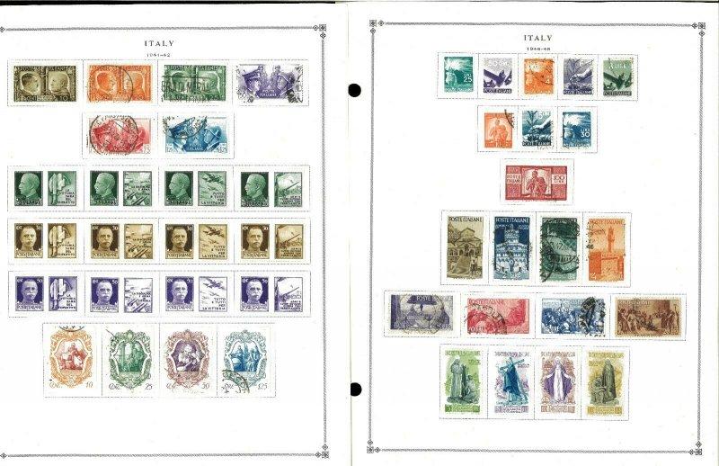 Italty 1941-1998 M & U Hinged on Scott International Pages Thru 1999