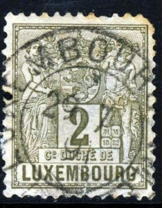 LUXEMBOURG 1884 2c. Grey-Brown Agriculture & Commerce P12½ SG 117 VFU