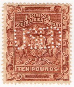 (I.B) Rhodesia/BSAC Revenue : Duty £10