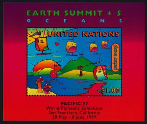 United Nations - New York 708a MNH Earth Summit, Sailboats, Pacific '97 o/p