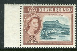 NORTH BORNEO; 1961 early QEII issue fine Mint hinged Marginal value, 35c