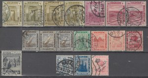 COLLECTION LOT # 3639 EGYPT 18 STAMPS 1914+ CLEARANCE CV+$15