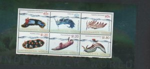 Australian Stamps Mint 2012 Underwater World Miniature sheet MUH 6 stamps 4X60c