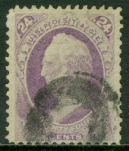 USA : 1870. Scott #153 Used, Fine. Fresh stamp with good color. Catalog $230.00.