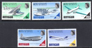 ANTIGUA 232-6 MH SCV $5.70 BIN $2.85 AIRPLANES