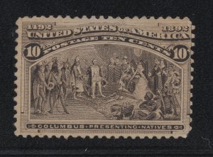 US Stamp Scott #237 Mint Previously Hinged SCV $90