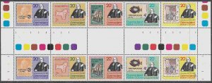 Christmas Island #90 Gutter Pairs F-VF Mint NH ** Rowland Hill, Stamp on Stamp