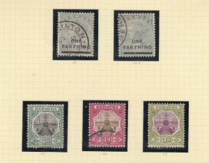 BERMUDA MINT AND USED DRY DOCKS AND CARAVELS TO 1sh CAT VALUE $200+