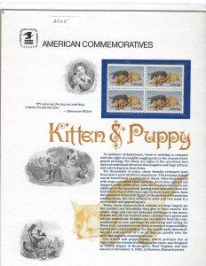 Souvenir Page - Kitten & Puppy #2025 #SP598