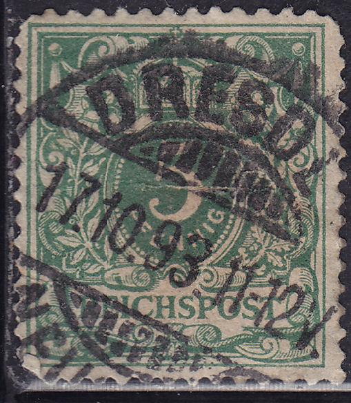Germany 47 USED 1889 Reichspost 5Pf