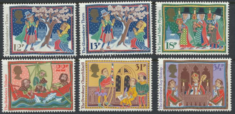 GB SG 1341 - 1346  SC# 1162-1167 Mint Never Hinged - Christmas 1986