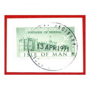 Isle of Man 2/- Green QEII Pictorial Revenues CDS On Piece