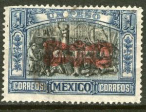 MEXICO 526, $1Peso CORBATA REVOLUTIONARY OVERPRINT. UNUSED, H OG. F-VF.