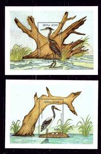 Sierra Leone 983-84 MNH 1998 Wading Birds S/S