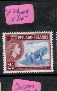 PITCAIRN ISLANDS  (PP2106B)  QEII  2/6  BOAT  SG 28   MNH