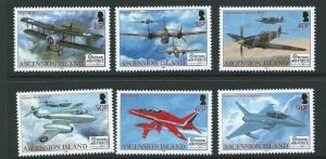 ASCENSION SG1010/5 2008 90th ANNIV OF ROYAL AIR FORCE MNH