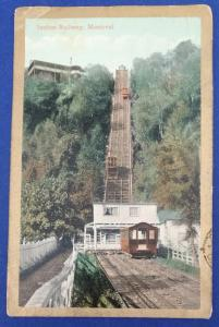 Canada Incline Railway Montreal Postcard With Stamp (HP13)