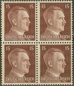 Stamp Germany Mi 789 Sc 514 Block 1941 WW2 3rd Reich Hitler German MNH