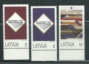 1993 Latvia Scott Catalog Number 349-351 Unused Never Hinged