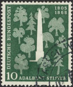 Germany (West) 1955 10pf 150th Birth Anniversary of Stifter Used