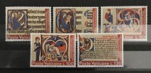 Vatican City 1972, #521-25, MNH, CV $1.35