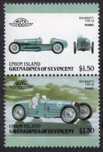 St Vincent Grenadines Union Island 160 Cars MNH VF