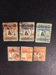Netherlands Indies 144-146,147a,149,150 uhr