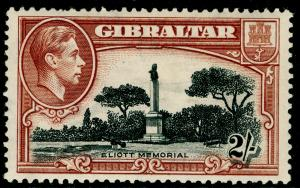 GIBRALTAR SG128a, 2s black & brown PERF 13½, M MINT. Cat £130.