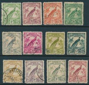 NEW GUINEA : 1932 Undated Bird 1d to 2/-.