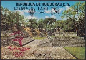 Honduras stamp Summer Olympics block MNH Imperforated 2000 Mi 67 WS151189
