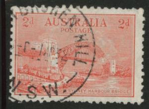 Australia Scott 135 used 2p 1932  Sydney Bridge p10.5 CV$2