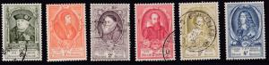 Belgium 1952 Long Portraits of Beglian Royalty Complete (11)  Very Fine Used