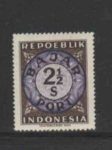 INDONESIA #J2 1948 2 1/2s POSTAGE DUE MINT VF NH O.G
