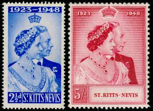 ST KITTS-NEVIS SG80-81, COMPLETE SET, NH MINT. RSW.