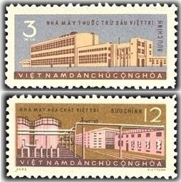 Vietnam 1963 MNH Stamps Scott 261-262 Chemical Industry Five Year Plan Economy