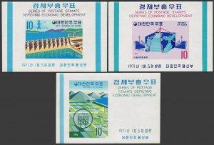 Korea South 738a-746a,MNH.Michel Bl.320-328. Economic Development,1971.