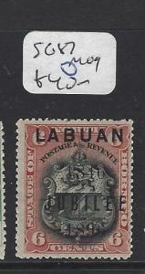LABUAN (P1812B) JUBILEE 6C LION, ARMS    SG 87   MOG