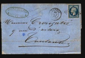 France 1860 Letter Cover / Cannes CDS - Z15720