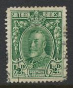 Southern Rhodesia SG 15b perf 14  Used clipped perfs