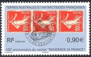 2009 TAAF French Antarctic Territory 677 100 years of French rule first stamp
