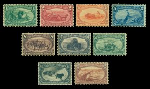 US 1898 TRANS-MISSISSIPPI Exposition set Scott#285-293 (Yvert # 129-137) mint MH