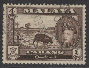 MALAYA PAHANG SG77 1957 4c SEPIA FINE USED