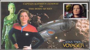 CA17-003, 2017, Star Trek, FDC, Captain Janeway, Borg, Voyager