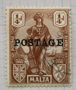 Malta sc#116 Postage stamp overprinted used