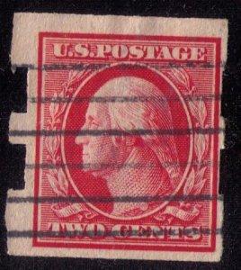US Sc #344 2c Washington USED (1909) Schermack TYPE I Fine