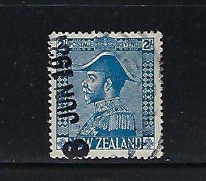 NEW ZEALAND SCOTT #182 1926 GEORGE V ADMIRAL- 2SH (BLUE)- USED