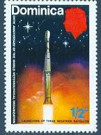Launching of Tiros Weather Satellite, Dominica SC#354 MNH