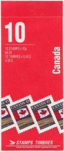 Canada USC#153Ab 1994 Leigh Mardon 43c Pane of ten - Open Cover